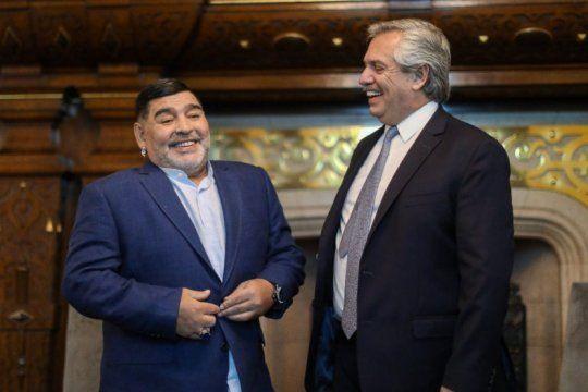 Maradona y Alberto: Pelusa se pone a disposición del Presidente