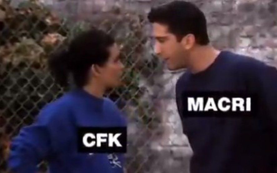 """CFK vs Macri: el desopilante video que mezcla la serie """"Friends"""" con la política argentina"""