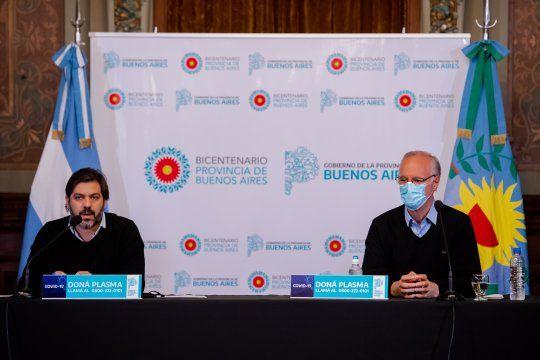 Bianco y Gollán suelen encabezar las conferencias de los lunes sobre el avance del coronavirus