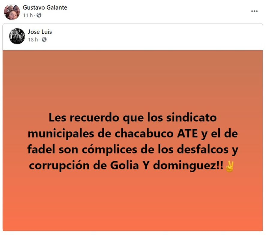 El polémico posteo del subsecretario de Obras Públicas de Chacabuco