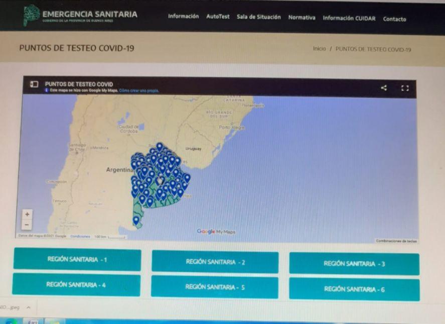 Ahora cada bonaerense podrá chequear de forma virtual la ubicación de los centros de diagnóstico de coronavirus