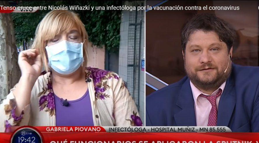 La doctora Piovano chicaneó a Wiñazki en TN