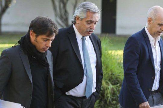 el presidente recibe a kicillof y larreta para evaluar la extension de la cuarentena
