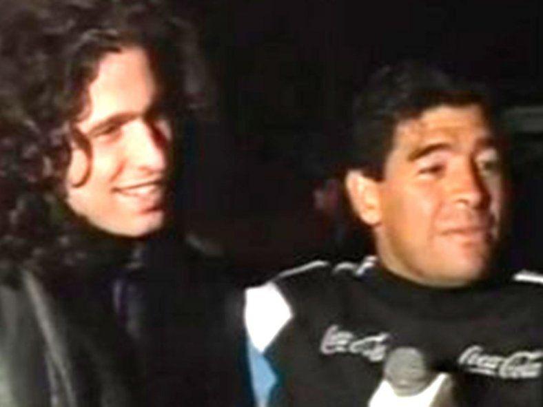 Andrés Calamaro y Diego Maradona