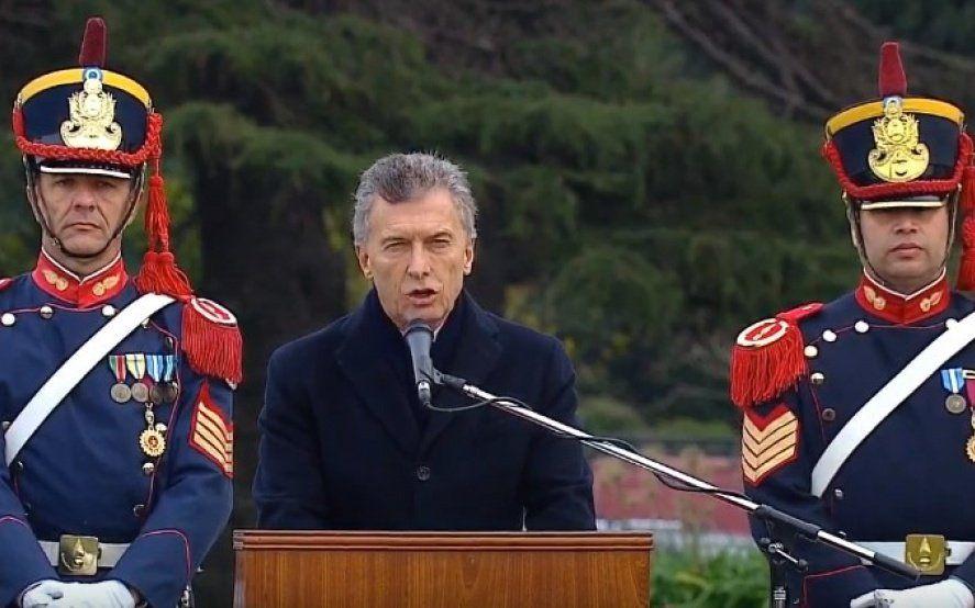 Macri: Había hacia las fuerzas armadas un abandono presupuestario y también simbólico