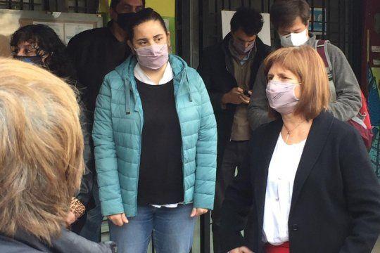 Bullrich otra vez repudiada (Foto Twitter Analía Zappulla)