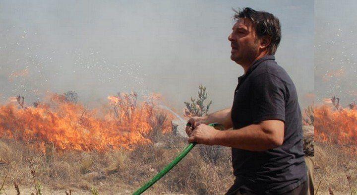 Damián De Santo contra el fuego: el relato de los incendios