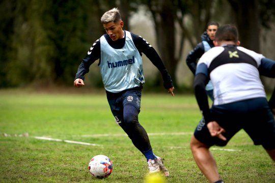 Eric Ramírez en el entrenamiento de Gimnasia