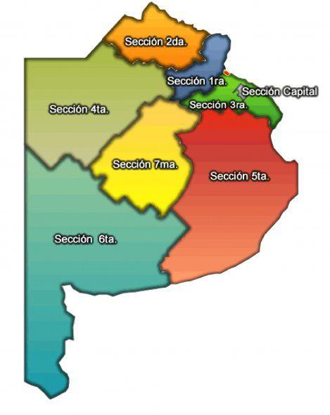 Paso 2021: El mapa de las secciones electorales de la Provincia