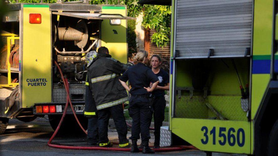 El incendio fue en el barrio Coronel Dorrego