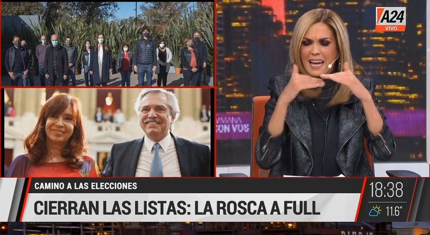 Viviana Canosa aseguró tener amigos de La Cámpora y fustigó a varios referentes de Juntos