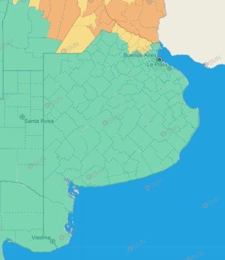 El alerta naranja por tormentas cesó para la Provincia de Buenos Aires, pero continúa en otros puntos del territorio nacional.