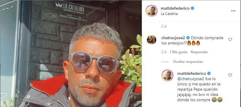 La respuesta de Defederico a su amigo José Chatruc que enojó a Cinthia Fernández