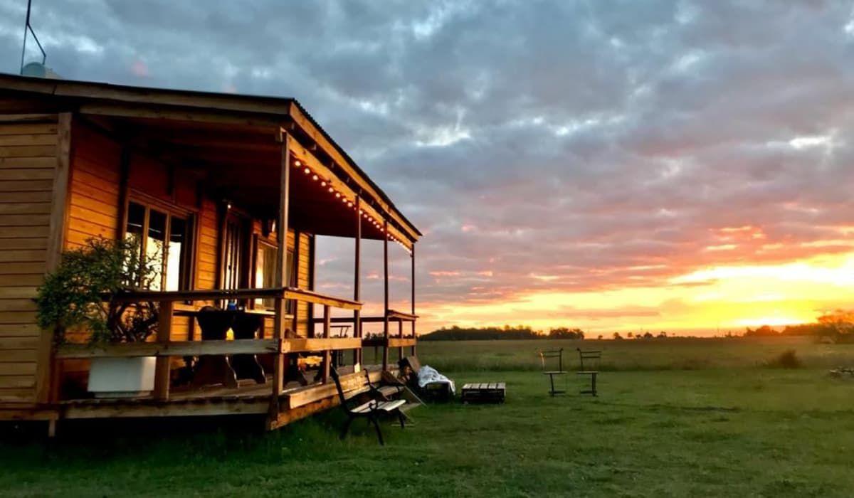 Refugio El Vergel, una cabaña destinada al hospedaje y ecoturismo rural en el paraje Gándara, en Chascomús.
