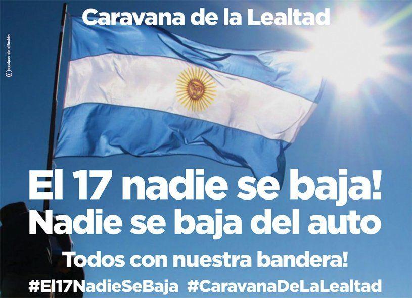 Impactante caravana de vehículos para celebrar la Lealtad peronista en todo el país
