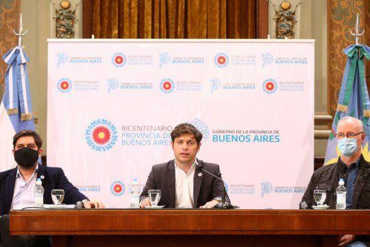 Axel Kicillof brindó una nueva conferencia de prensa donde confirmó el regreso de la construcción privada en obras pequeñas.