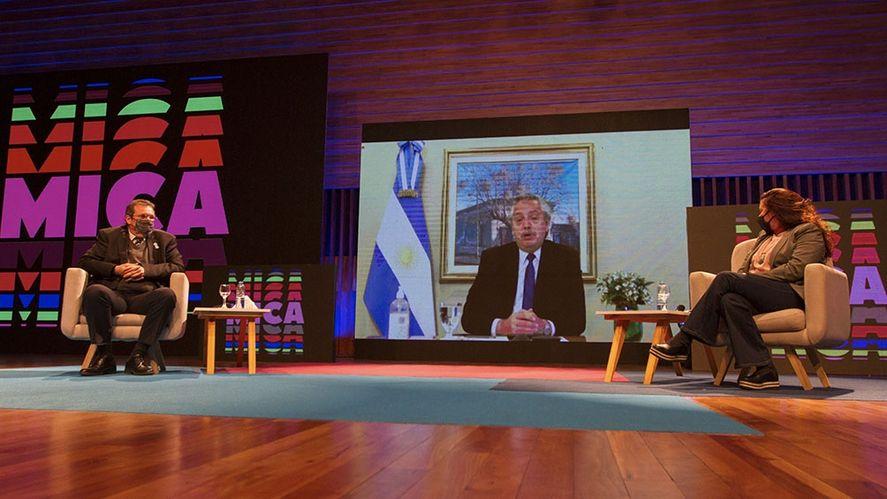 Alberto Fernández presentó la plataforma cultural MICA