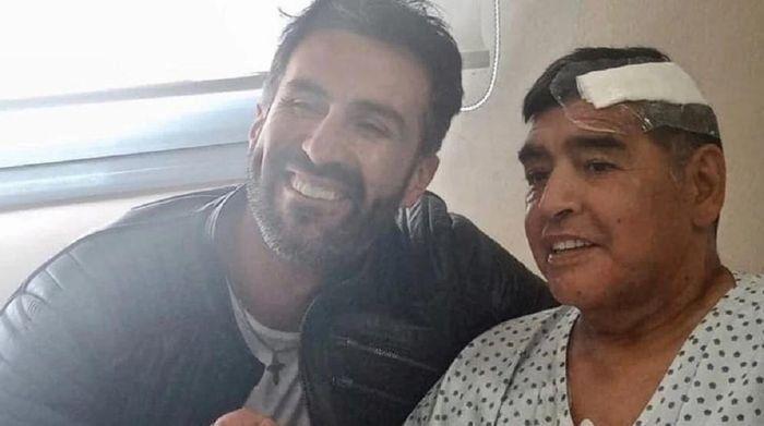 Leopoldo Luque junto a Diego Maradona