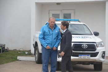 Junto al ministro Sergio Berni, el gobernador Axel Kicillof hizo anuncios para la policía bonaerense en Olavarría