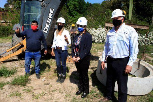 Malena Galmarini y la intendenta Blanca Cantero recorrieron las obras que beneficiarán a los vecinos de Presidente Perón