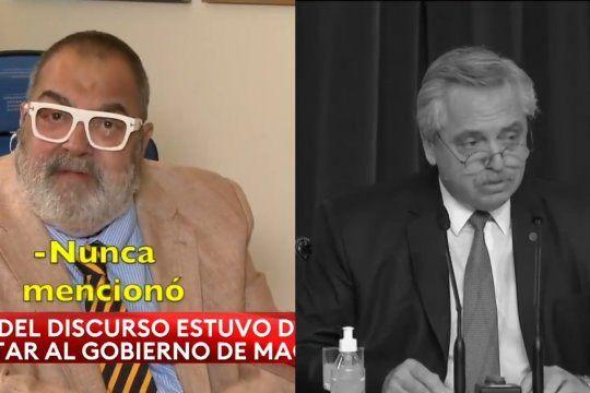 Jorge Lanata tuvo una falsa afirmación sobre los dichos del Presidente Alberto Fernández en su discurso ante el Congreso