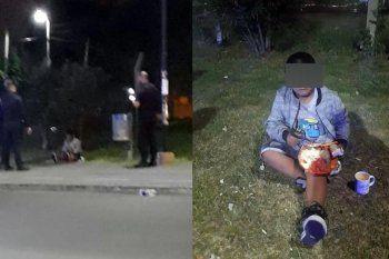 El nene de 7 años fue abandonado en Grand Bourg