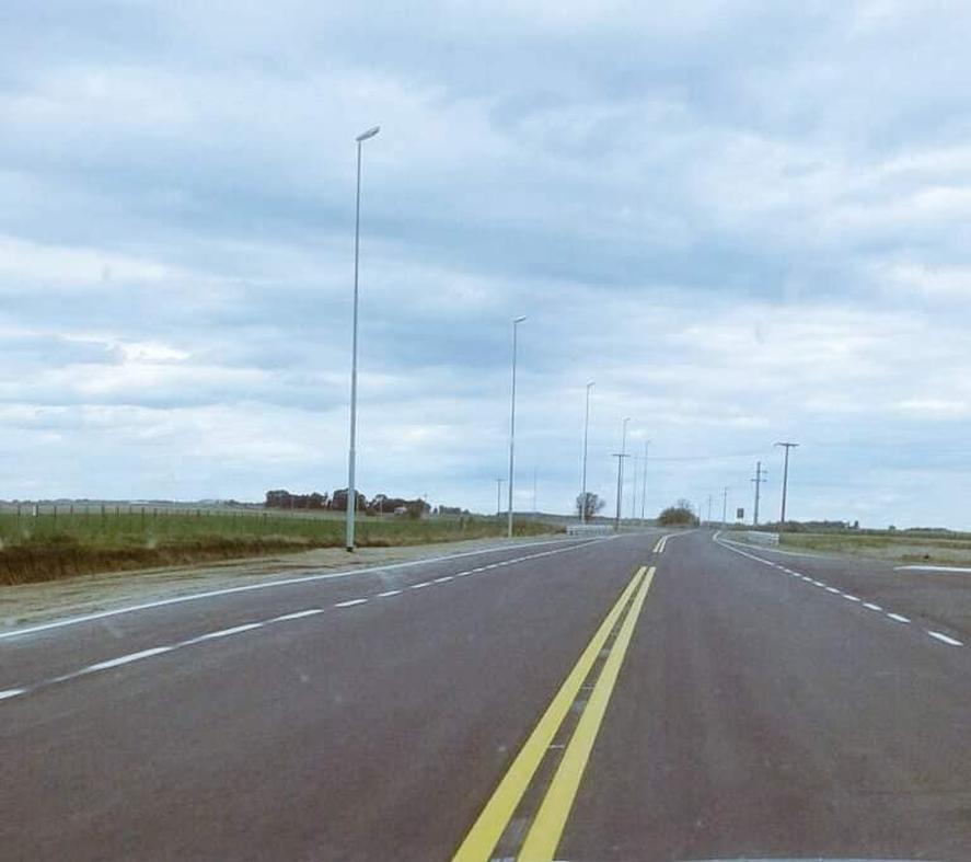 La parte pavimentada de la Ruta del Cereal