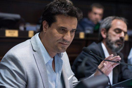 El jefe de la bancada de JxC en la Cámara de Diputados bonaerense, Maximiliano Abad