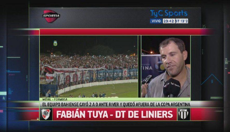 Fabián Tuya, funcionario de Bahía Blanca, tras enfrentar a River como DT