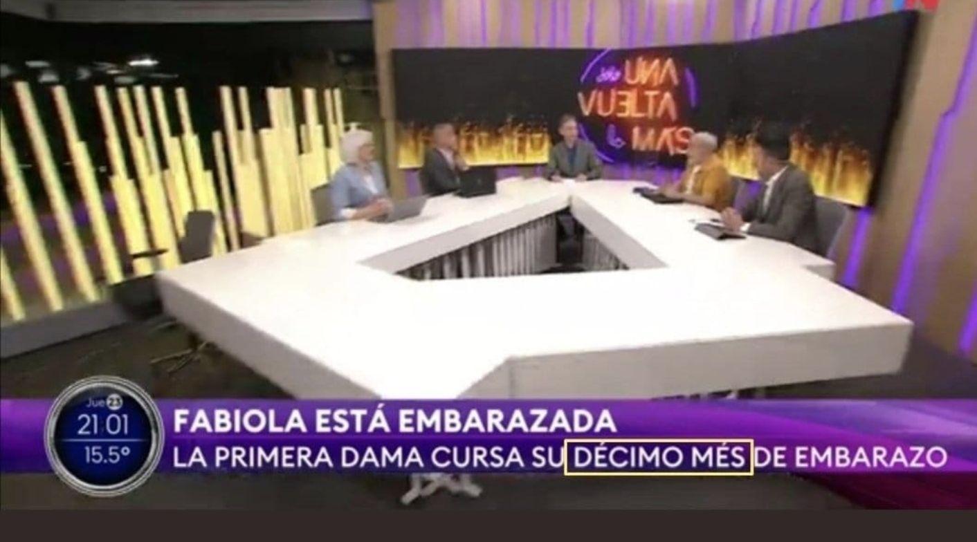 Varios medios de comunicación argentinos, como TN del Grupo Clarín, confundieron el tiempo que lleva de gestación el embarazo de Fabiola Yáñez. El error fue colocar meses, en lugar de semanas