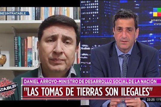 Daniel Arroyo calificó como ilegales las tomas de tierras y dijo que el conflicto en Guernica se soluciona dialogando