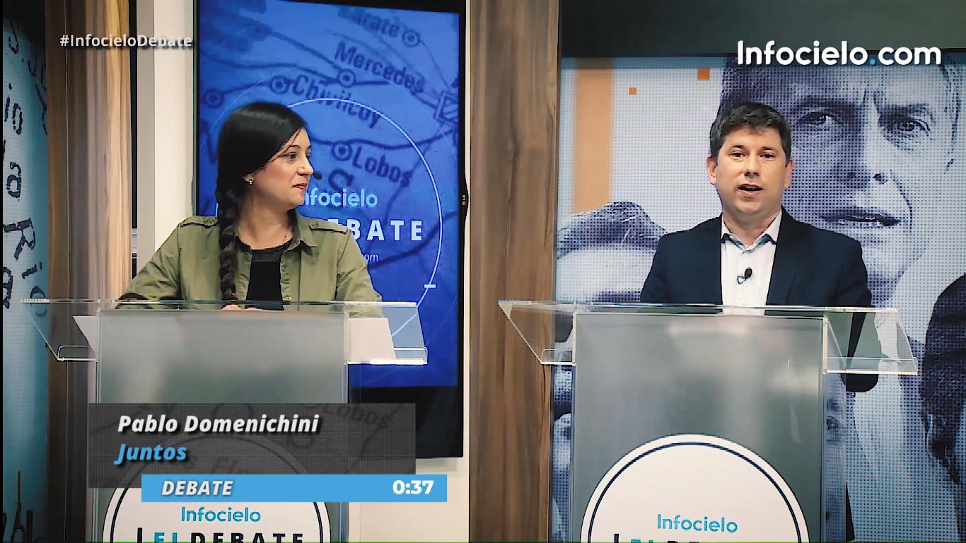 Ayelén Rasquetti (Izq.) y Pablo Domenichini (Der.) participaron de Infocielo El Debate de la tercera sección electoral.