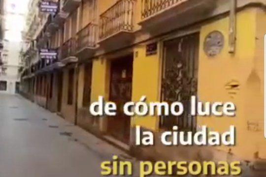 Un video del Viajero del tiempo de TikTok que dice estar grabándolos en el año 2027 desde Valencia, España