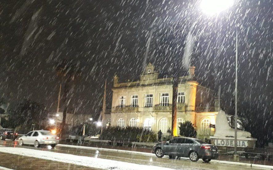 Nieve en la Provincia: Mar del Plata, Lobería, Necochea y Balcarce se tiñeron de blanco con la ola polar