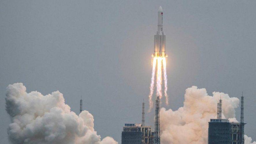 El cohete chino cayó el en Océano Índico