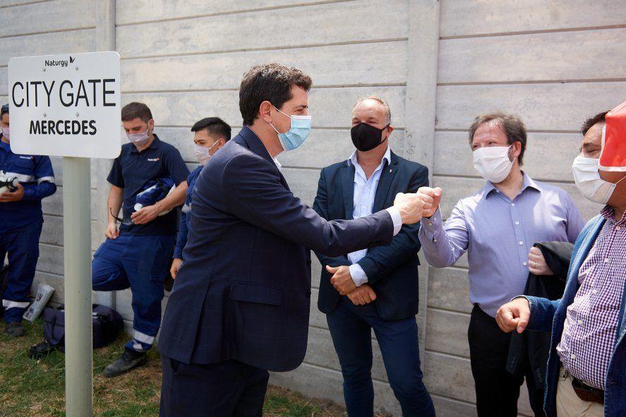 De Pedro inauguró una planta de alta presión de la empresade gas Naturgy en Mercedes