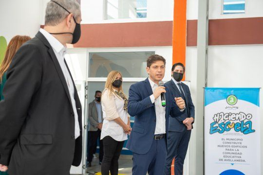 Kicillof y Nicolás Trotta inauguraron una escuela en Avellaneda