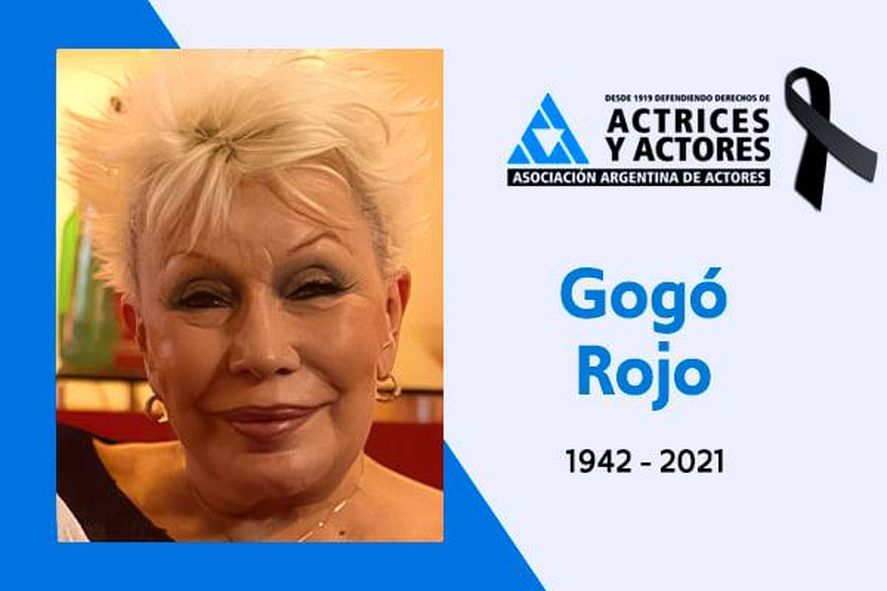 La actriz y vedette falleció anoche a los 78 años
