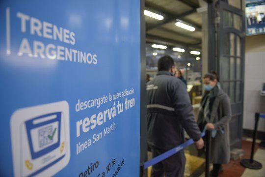 tren san martin: es obligatorio reservar asiento para la vuelta a casa