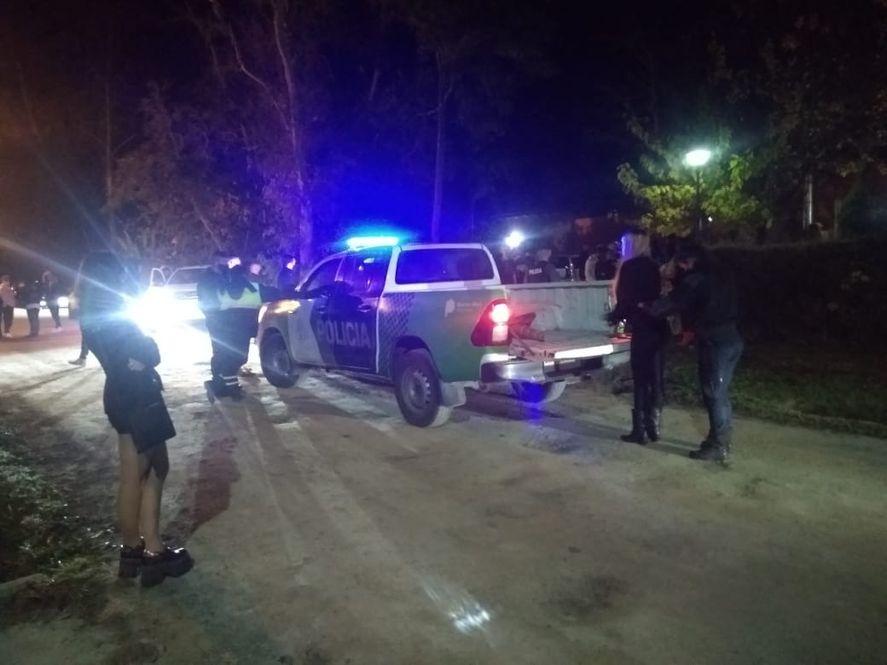 La fiesta clandestina fue en la ruta 215 a la altura del km. 39