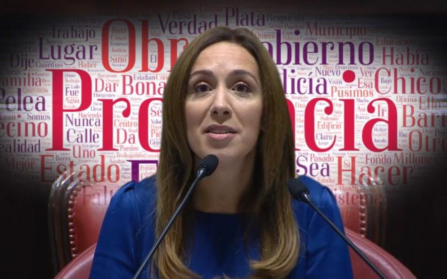La lupa sobre el discurso de Vidal: 7.300 palabras para fidelizar el voto de Cambiemos