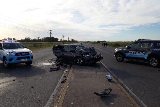 El accidente fue el domingo en la ruta 210 y fue en dos secuencias