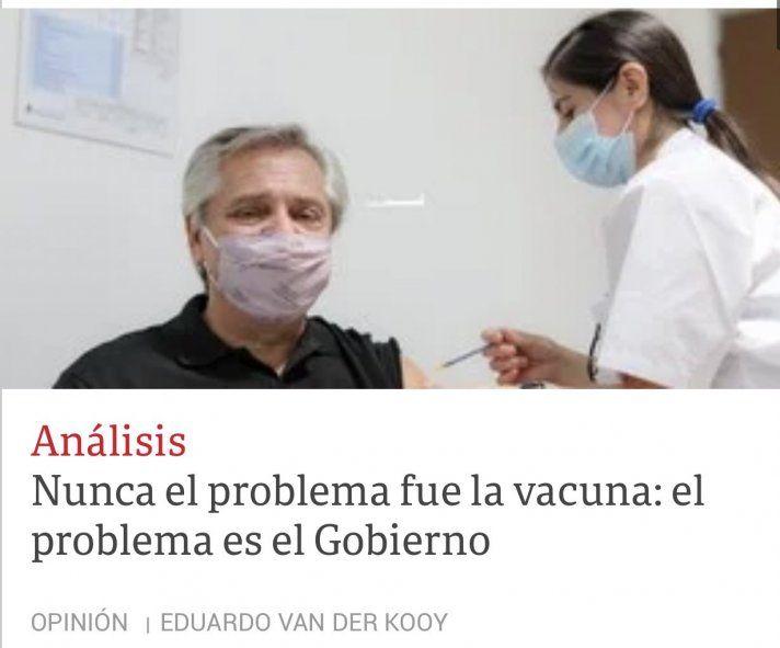 El subconsciente parece haber traicionado al Secretario de Redacción de Clarín para decir la verdad acerca de que la vacuna era la excusa.