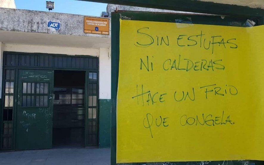 Más de un año sin gas en una escuela platense: El Consejo Escolar no da ninguna respuesta