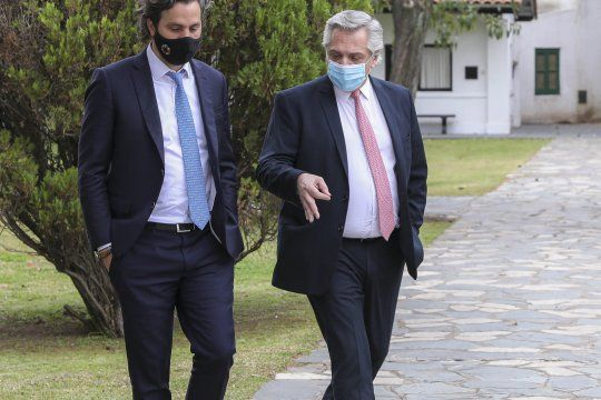 Cafiero junto a Alberto Fernández