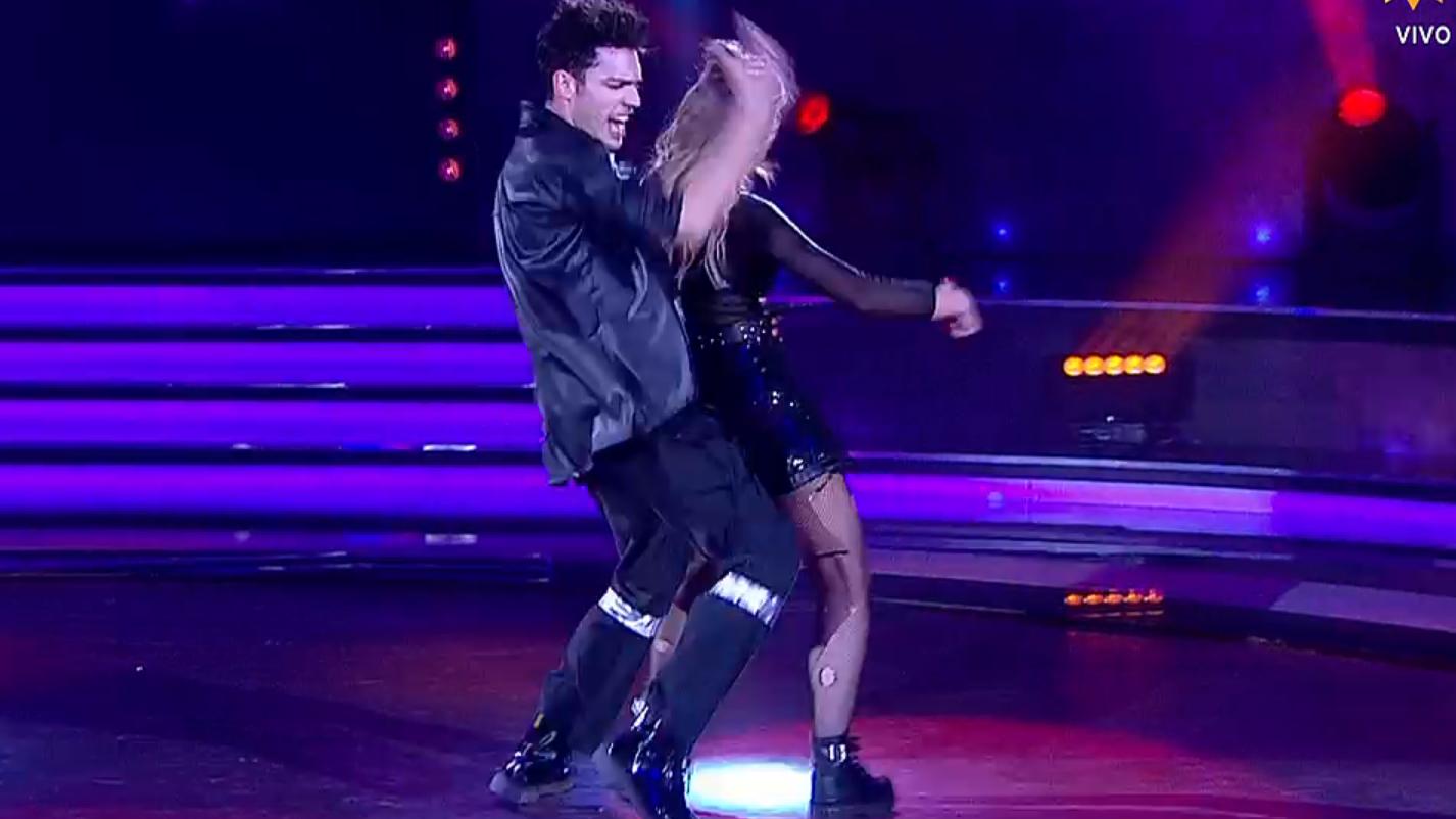 rocio marengo reprocho a su bailarin por una apoyada que no estaba en la coreografia