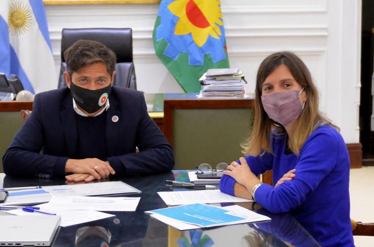 La reunión entre Fernanda Raverta y Axel kicillof se llevó adelante esta mañana en Casa de Gobierno.