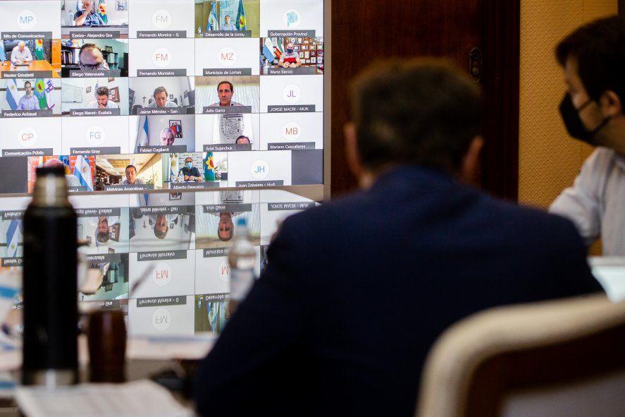 Axel Kicillof y la reunión virtual con intendentes del AMBA