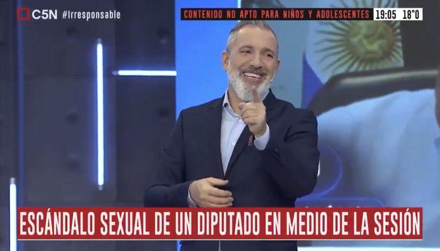 Pablo Duggan se tentó al aire cuando la producción llamó a Juan Emilio Ameri
