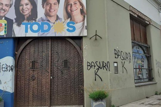 Repudio radical a las pintadas contra la sede del PJ